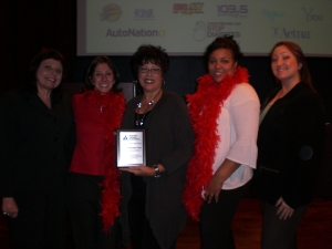 The ANB team receives the Top Fundraising Team award