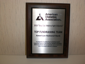 ADA Top Fundraising Team Award