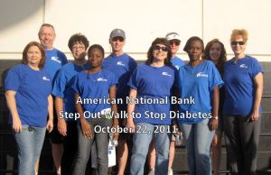 The ANB team participates in the Step Out Walk to Stop Diabetes
